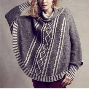 Anthropologie Yoon poncho sweater